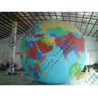 China Durable Huge Earth Balloons Globe , Inflatable Helium Filled Balloons wholesale