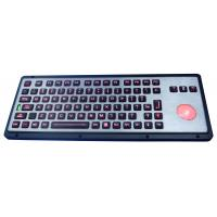 China Robust IP65 backlit industrial  keyboard with polymer keys, with backlit trackball wholesale