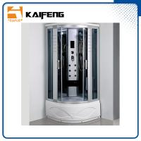 China Luxury Room Steam Shower Bath Cabin Shower Spa Units With Spa Tub Sector Shape wholesale