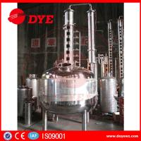 China 100 Gallons Steam Heated Vodka Still Distillation Column With Bubble Plates wholesale