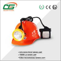 China High Brightness 15000 Lux Kl5lm Mining Cap Lamps Under Ground With Cable wholesale