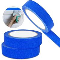 China Crepe Masking Tape Good Heat Resistance Automotive Painters Colored Masking Tape For Decoration wholesale