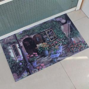 China Anti-Slip Washable Rubber Floor Carpet , Soft Gym Rubber Floor Mat wholesale