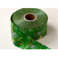 China Green PVC / PET  Heat Shrink Plastic Sleeve For Juice Bottle Packaging on sale