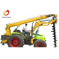China 100HP 8 Ton Tractor Crane Tower Erection Tools With Earth Auger wholesale