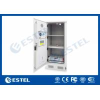 China Three Layers Metal Outdoor Battery Street Cabinets Telecoms With Water Sensor wholesale