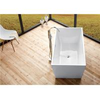China Seamless Acrylic Square Freestanding Bathtub With Pop - Up Drainer Durable wholesale
