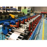 China C Purlin Roll Forming Machine / C Section Roll Forming Equipment Servo Flying Cutoff Type wholesale