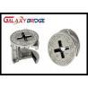 China Cabinet Furniture Fittings Hardware , 15mm Eccentric Wheel Zinc Minifix Furniture Cam Lock wholesale