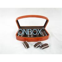China Brown High Gloss Wooden Watch Collection Case With Luxury Adjustable Pillows wholesale