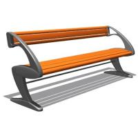 China KQ502140 Outdoor Park Furniture / Outside Cast Iron Garden Park Bench Powder Coated wholesale
