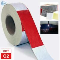 China Traffic Emergency DOT Reflective Tape , Dot Trailer Markings 2 Inch x 150 Feet Roll wholesale