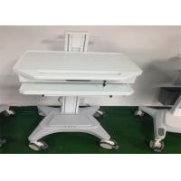 China Medical Working Station Patient Monitor Stand Hydraulic Laptop Computer Cart wholesale
