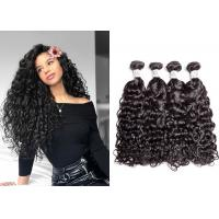 Full And Thick Bleached Water Wave Hair Bundles With Double Sewed Weft No Shedding