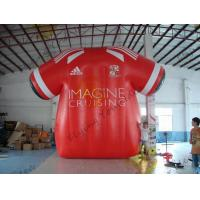 China Beatiful Red Inflatable Marketing Products , Rental Inflatable Safety Suit wholesale