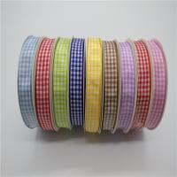 China Gingham Smooth Decorative Wired Ribbon For Hair Bow 2 - 100MM Width wholesale