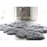 China 12-13 Cm Wool Natural Home Sheepskin Rug , Mongolian Lamb Fur Throw Blanket  wholesale