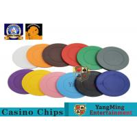 China Lightweight ABS Hotstamping Logo Dice Poker Chip / Colorful Roulette Poker Chips wholesale