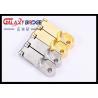 China Zinc Oval Flage  Golden Pipe Holder / Closet Tube Holder Wardrobe Hardwares Fittings wholesale