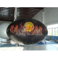 China Waterproof and Fireproof Black 0.18mm PVC Oval Balloon with Total Digital Printing wholesale