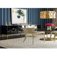 China Striped Pattern American Style Wallpaper Waterproof For Living Room , SGS CE Listed wholesale