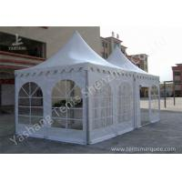China Hard Aluminum Framed Wind Resistance High Peak Tents Soft Pvc Fabric Cover wholesale