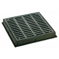 China Dished Square Round Cast Iron Drain Grate Covers Cast Metal Driveway Drainage Grates on sale