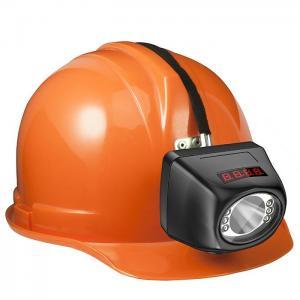 China Portable Cordless Cap Lamp , Digital Cree Led Mining Headlamp wholesale