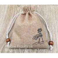 Buy cheap Polyester Fibre Jute Gift Bag Drawstring and Lining 20 Pcs DIY Craft Jewelry from wholesalers