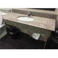 "G664 Bainbrook Brown Granite Vanity Tops 49"" With Apron And Tissue Hole"