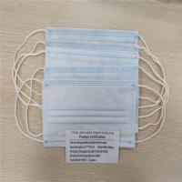 China Blue Appearance Disposable Face Mask Eco Friendly Materials Respirator Mouth Mask wholesale