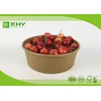 Buy cheap Disposable Printed Take Away Paper Salad Bowls High / Low Temperature Resistant from wholesalers