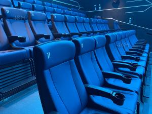 China Modern 4D Cinema Motion Seats Leather Chair Pneumatic / Electronic Effects wholesale