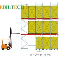 Buy cheap Forklift Drive Through Racking , Drive In Racking by Trolley Pallet Stacking from wholesalers