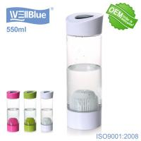 China BPA Free Potable Alkaline Water Bottle with Filter and Bag White Color on sale