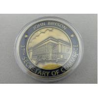 3D Custom Commerce Iron / Brass / Copper Awards Coin with Clear Plastic Box