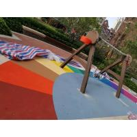 China Abrasion Absorption Playground Rubber Flooring Rich Color Wear Resistant on sale
