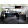 China Modern Dark Oak Wooden Veneer Kitchen Cupboards , Flat Panel Tranditional Kitchen Cabinets wholesale