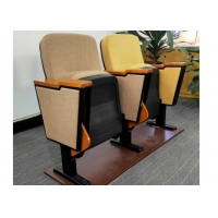 China Safe Plastic Auditorium Theater Chairs With Folded Writing Pad for Conference Hall wholesale