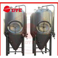China Industrial Conical Stainless Steel Fermenter Tank 2MM - 5MM Thickness wholesale