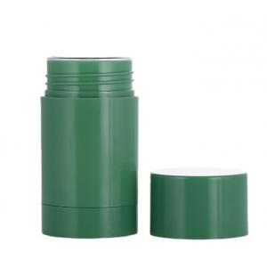 China 1oz 1.7oz 2.65oz Green Plastic Twist-up Refillable Deodorant Containers wholesale