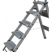China 5 Steps Domestic Aluminum Step Ladders Stool with Handle and Tool Tray wholesale
