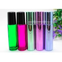 China  Perfume Empty Roll On Bottle 10ml Amber Glass With Metal Roller Ball wholesale