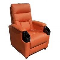China Leather Home Movie Theater Seats VIP Sofa With Tilting Cup Holder wholesale