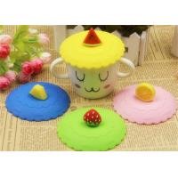 China Food Grade Silicone Fresh Cover / Silicone Cup Cover Round Shape Diameter 10.5cm wholesale
