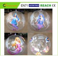 China Clear PVC Inflatable Beach Ball Easy Carrying Light Weight For Pool Toys on sale