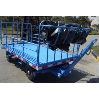 China Labor Saving Airport Baggage Dollies Four Rails For Cargo Transportation wholesale