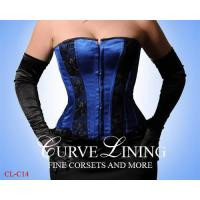 China Wholesale Steel Boned Tight Lacing Overbust Corset CL-C14 on sale