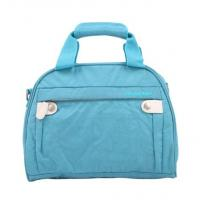 Buy cheap Handled Make up Bags Washing Fabric Blue Cosmetic Cases Bags from wholesalers
