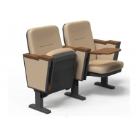 Buy cheap Safe Plastic Auditorium Theater Chairs With Folded Writing Pad for Conference from wholesalers